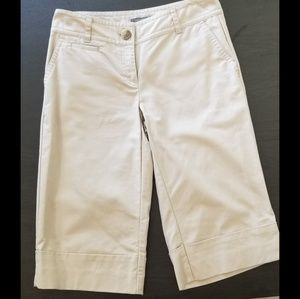 Ann Taylor Curvy Fit Khaki Bermuda Shorts, Size 4